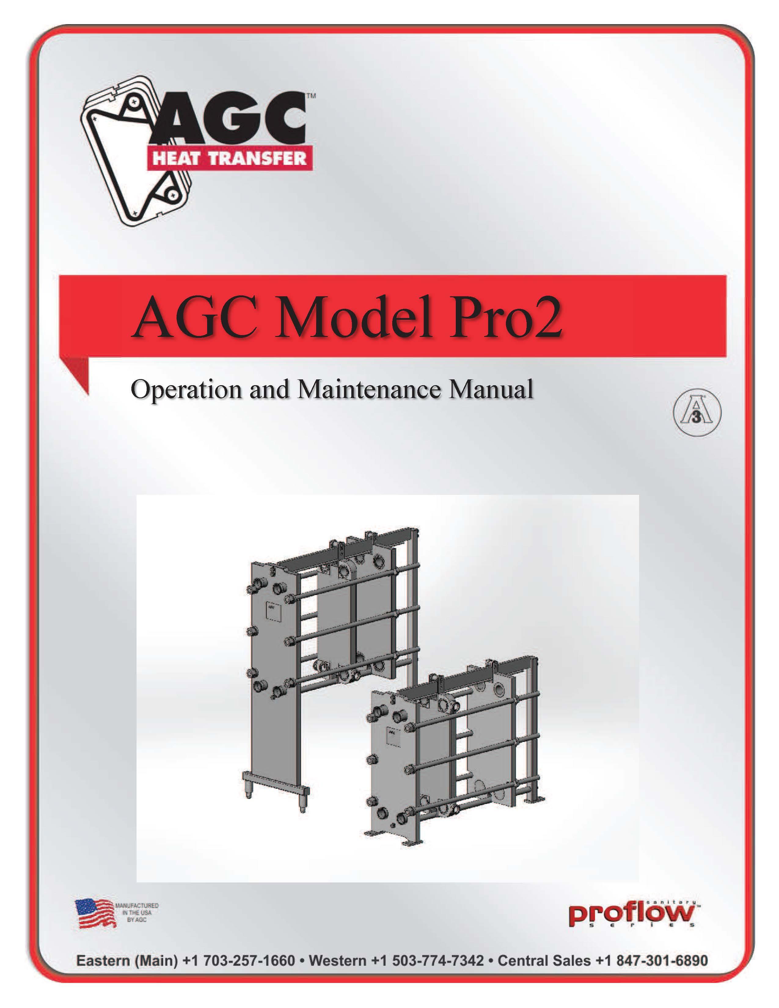 AGC Operating Manual Pro2