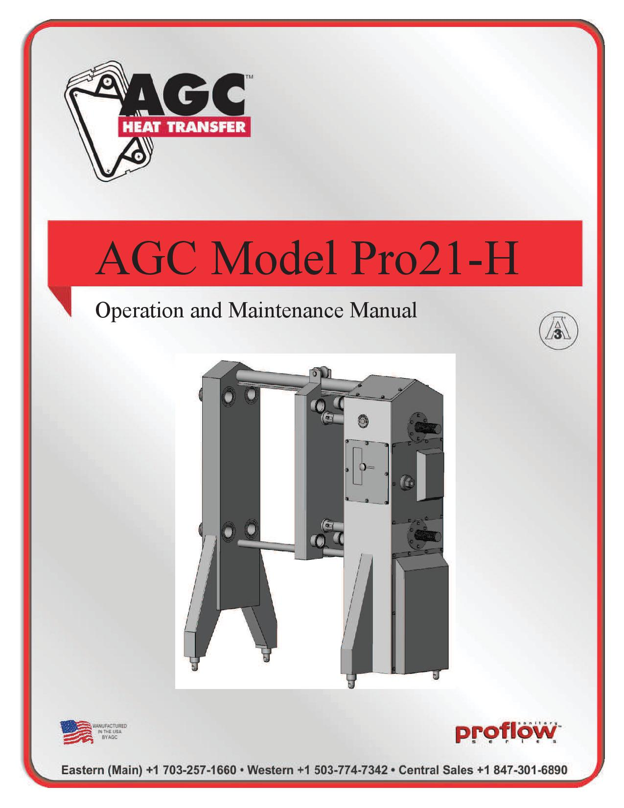 AGC Operating Manual Pro21-H
