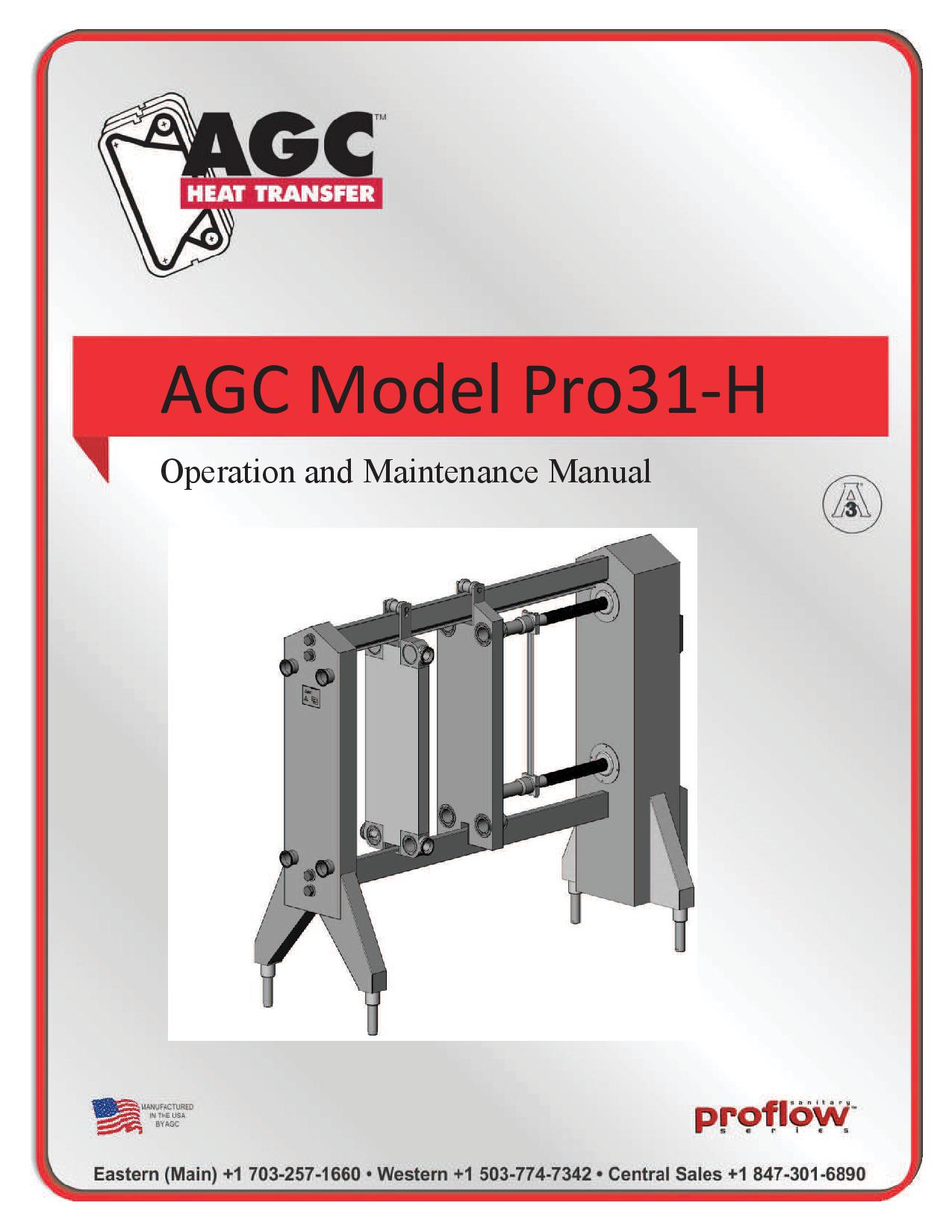 AGC Operating Manual Pro31-H
