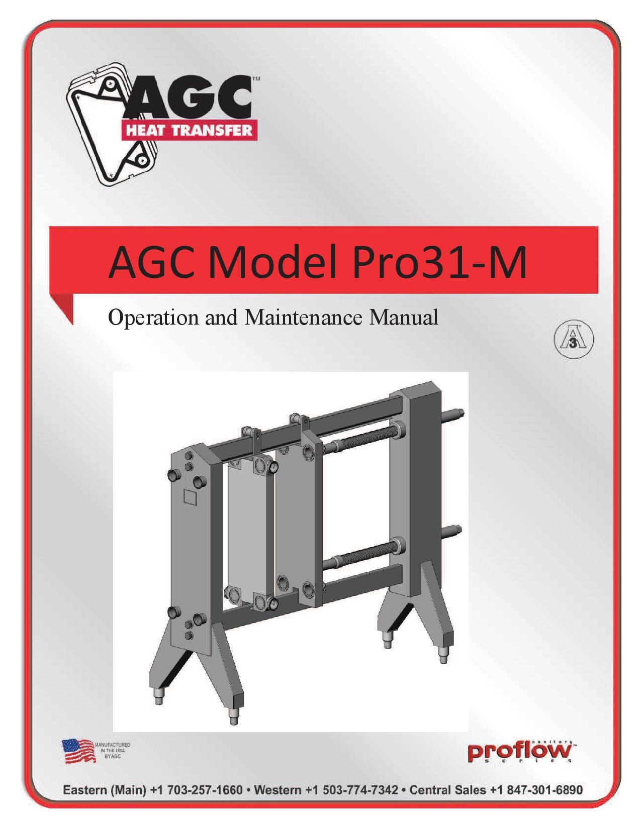 AGC Operating Manual Pro31-M