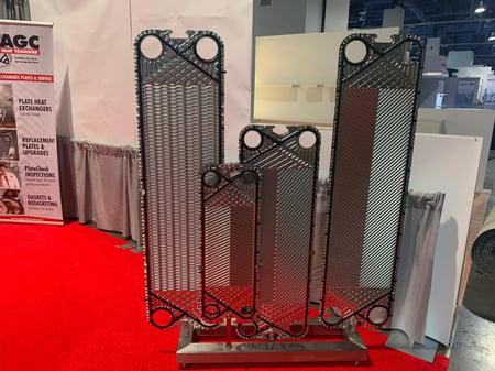 heat transfer parts on display